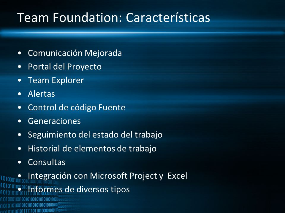 Team Foundation: Características