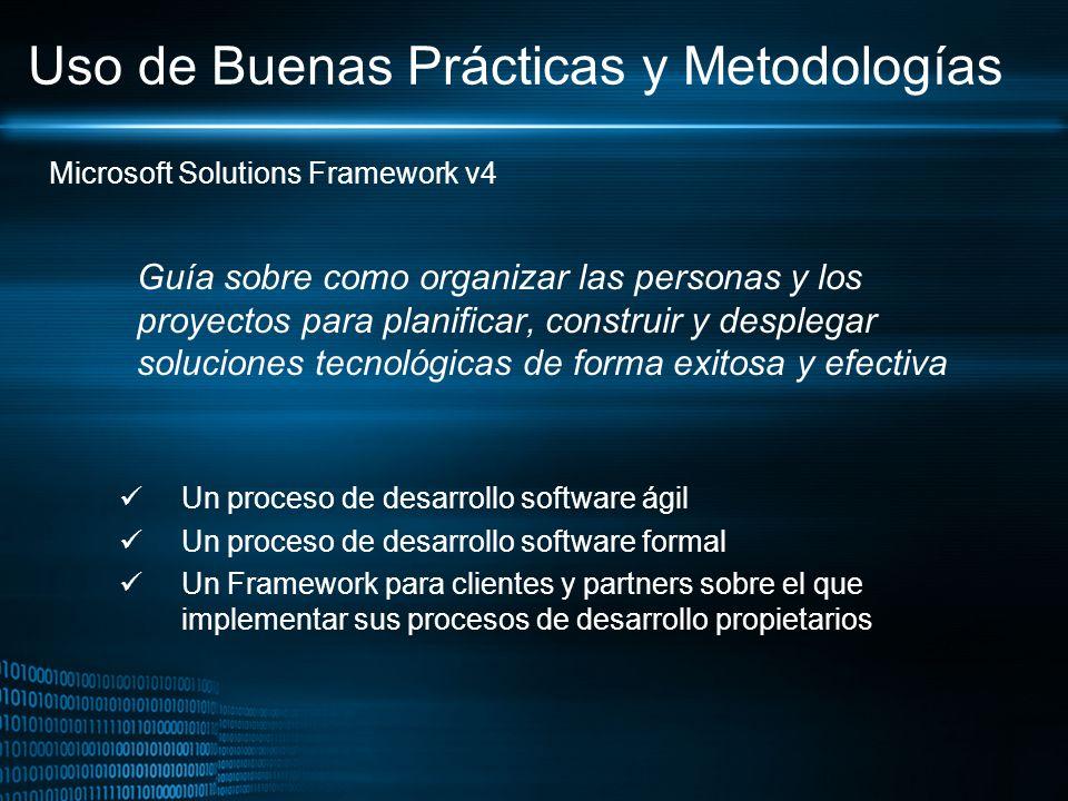 Uso de Buenas Prácticas y Metodologías