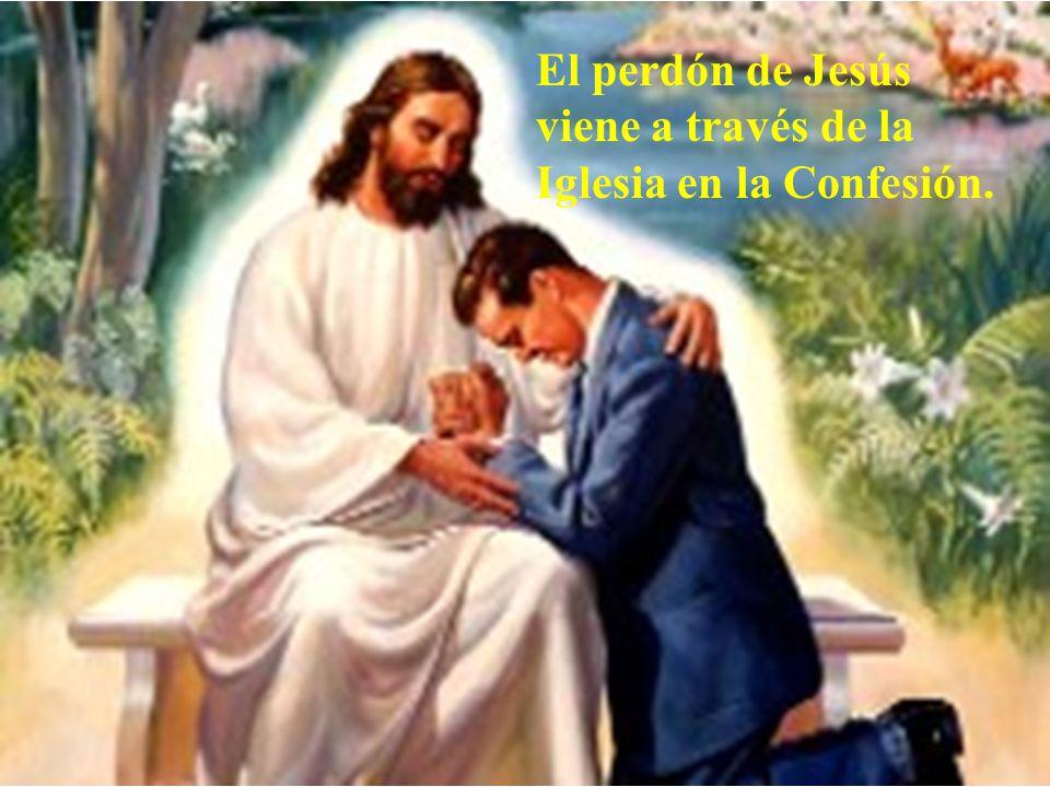 El perdón de Jesús viene a través de la Iglesia en la Confesión.