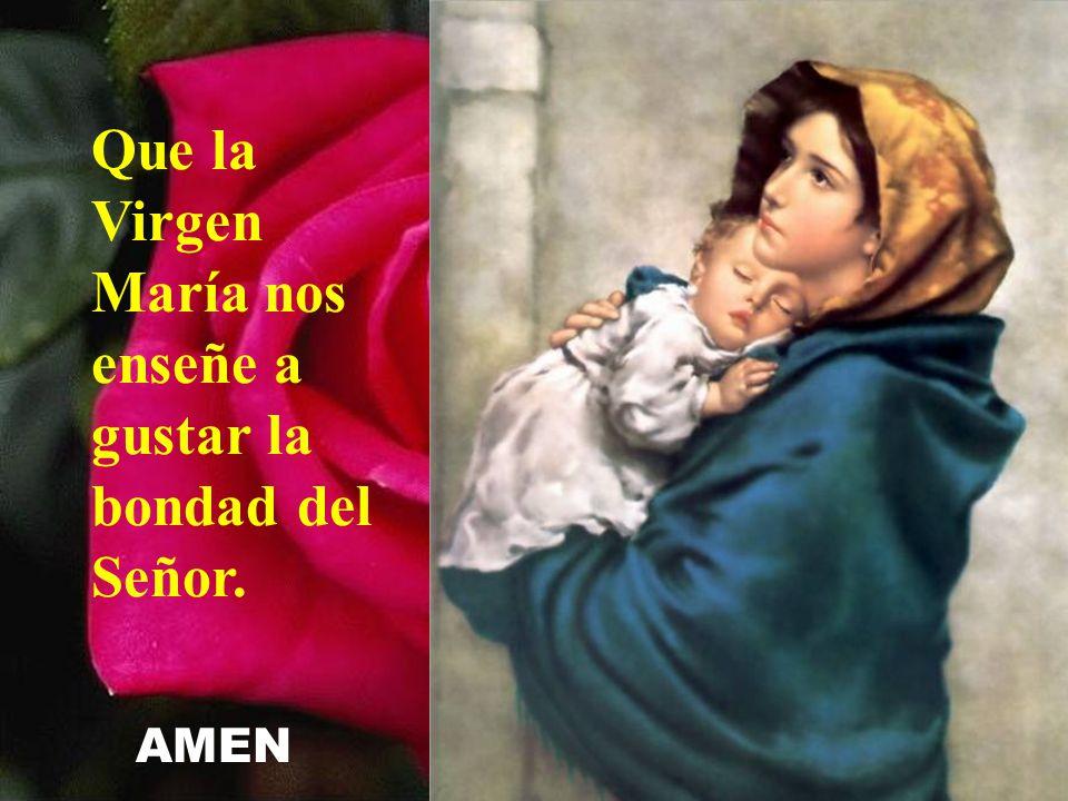 Que la Virgen María nos enseñe a gustar la bondad del Señor.