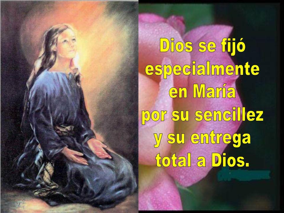 Dios se fijó especialmente en María por su sencillez y su entrega total a Dios.
