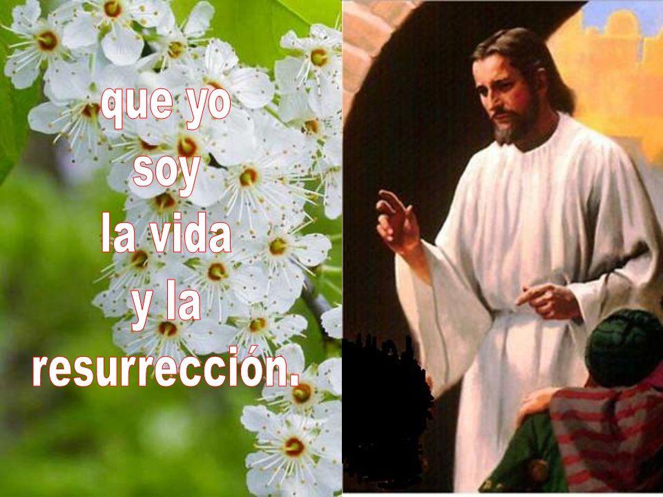 que yo soy la vida y la resurrección.
