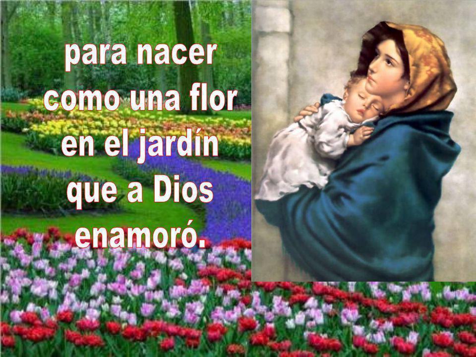 para nacer como una flor en el jardín que a Dios enamoró.