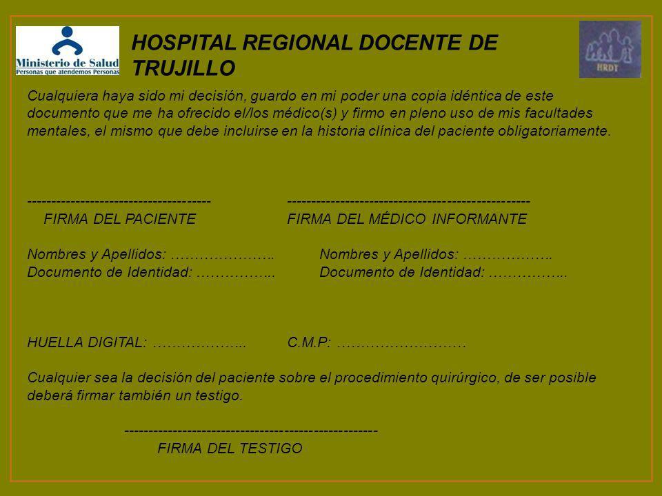 HOSPITAL REGIONAL DOCENTE DE TRUJILLO
