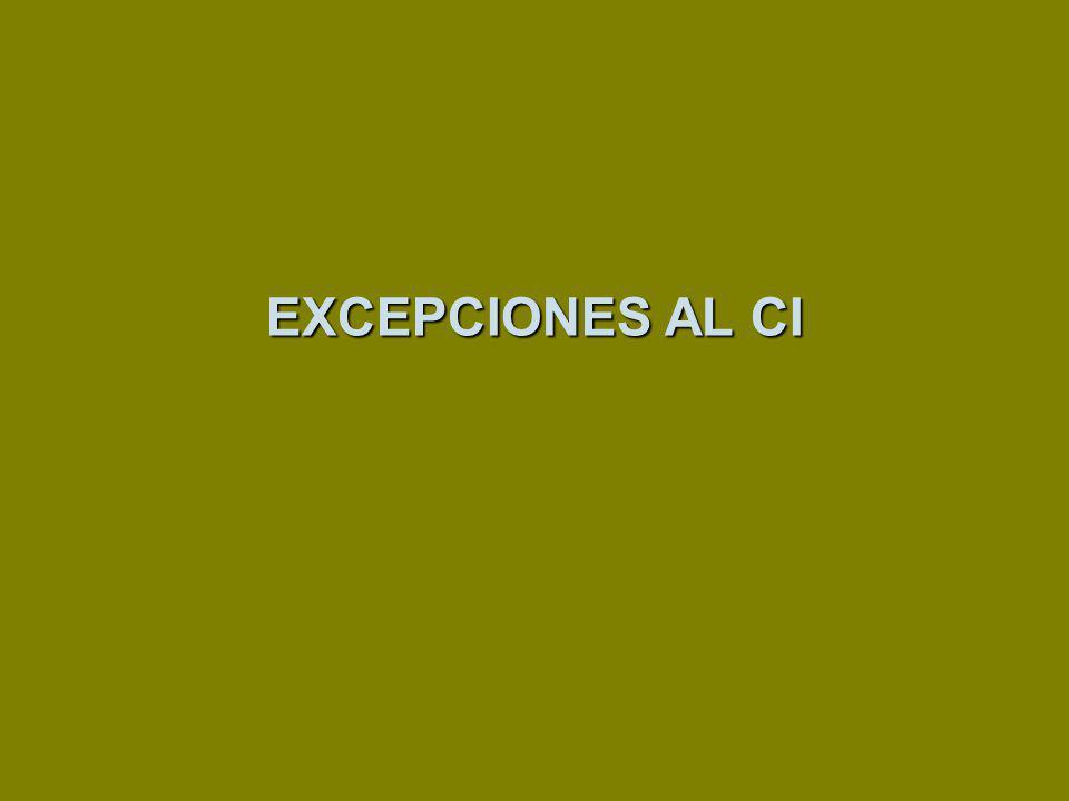 EXCEPCIONES AL CI 121