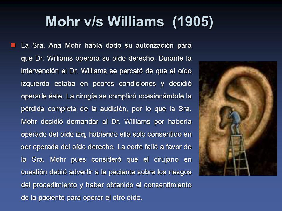 Mohr v/s Williams (1905)