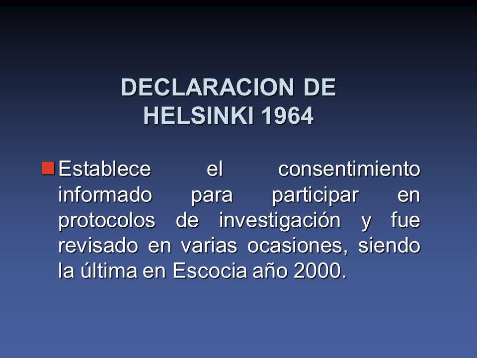 DECLARACION DE HELSINKI 1964