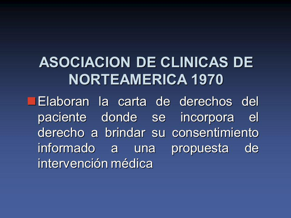 ASOCIACION DE CLINICAS DE NORTEAMERICA 1970