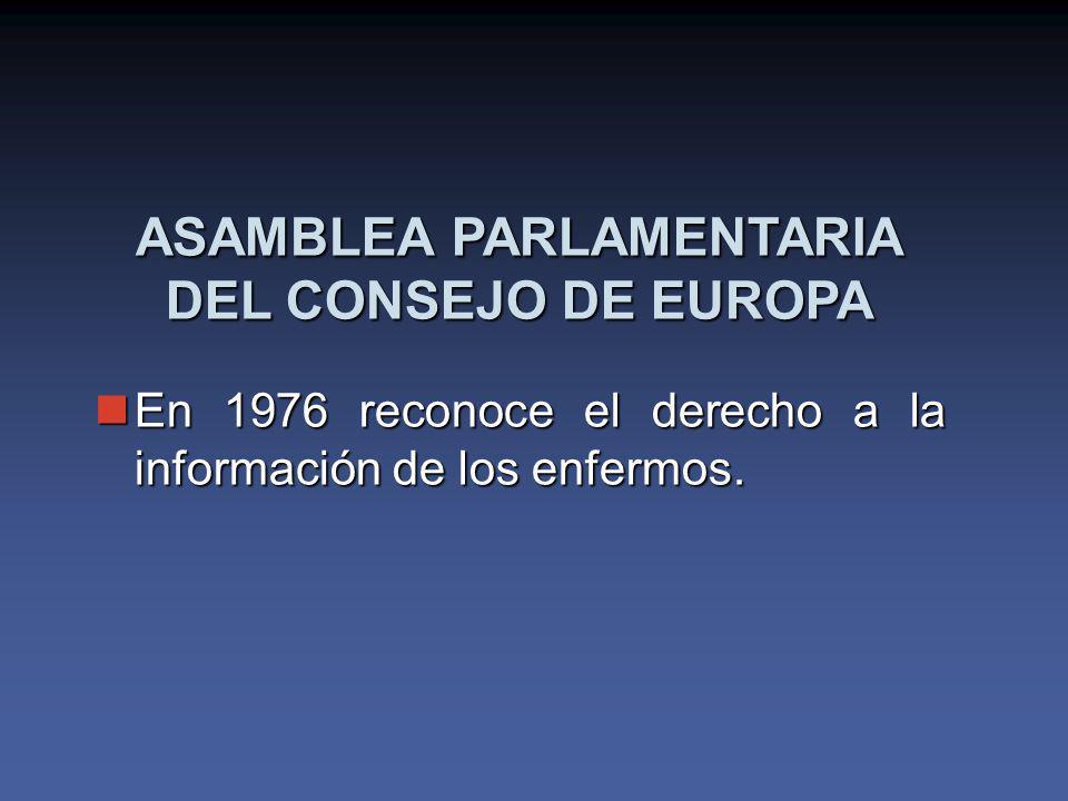 ASAMBLEA PARLAMENTARIA DEL CONSEJO DE EUROPA