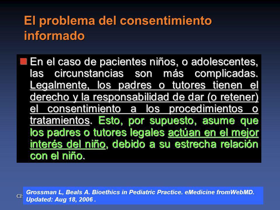 El problema del consentimiento informado