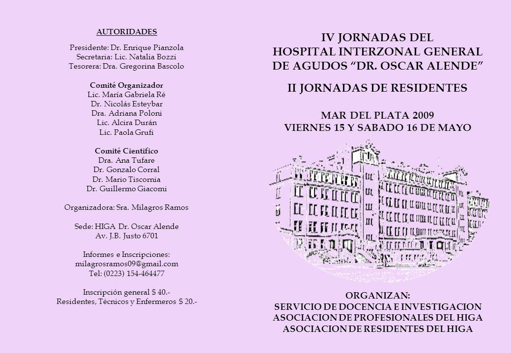 HOSPITAL INTERZONAL GENERAL DE AGUDOS DR. OSCAR ALENDE