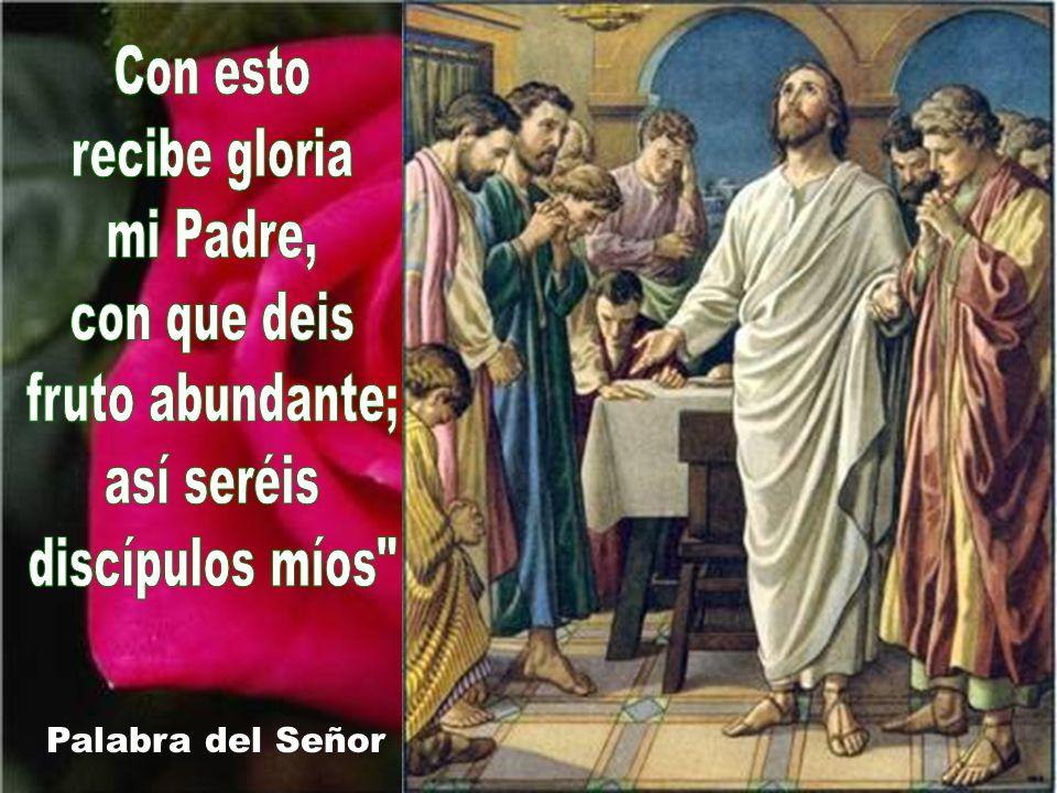 Con esto recibe gloria mi Padre, con que deis fruto abundante;