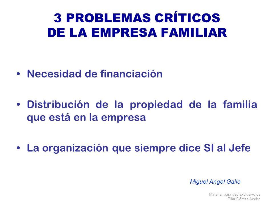 3 PROBLEMAS CRÍTICOS DE LA EMPRESA FAMILIAR