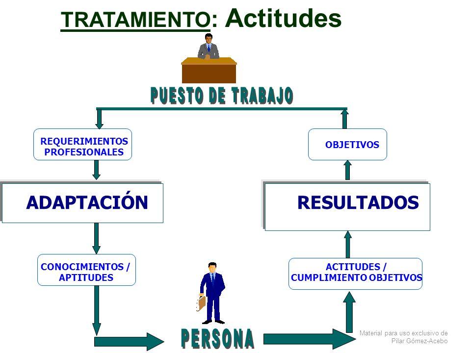 TRATAMIENTO: Actitudes