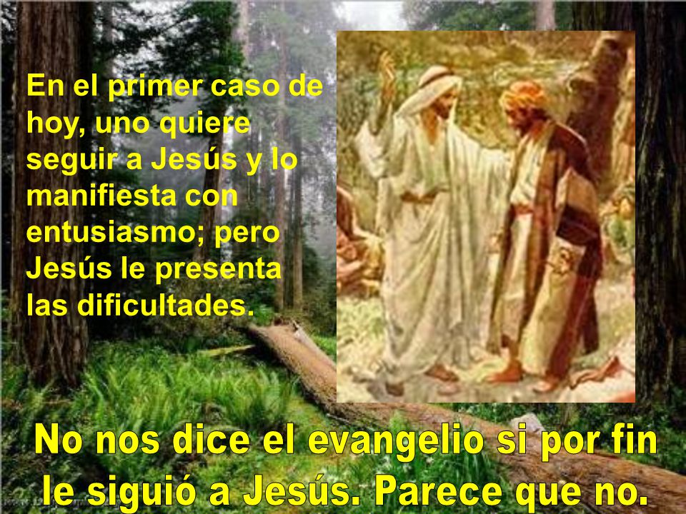 No nos dice el evangelio si por fin le siguió a Jesús. Parece que no.