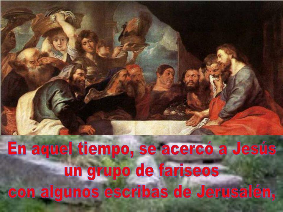 En aquel tiempo, se acercó a Jesús un grupo de fariseos