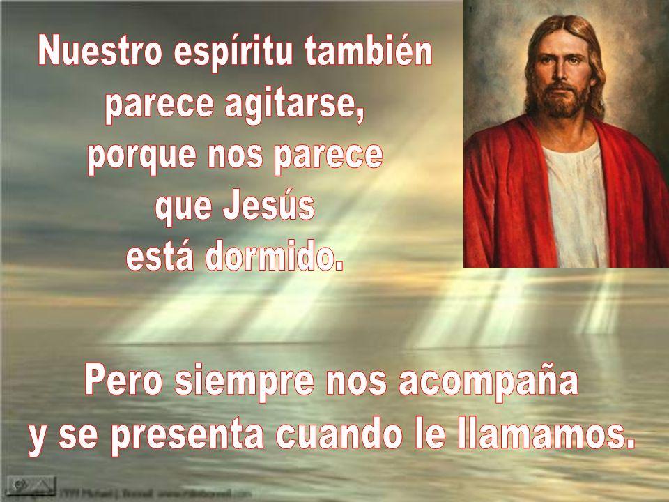 Nuestro espíritu también parece agitarse, porque nos parece que Jesús