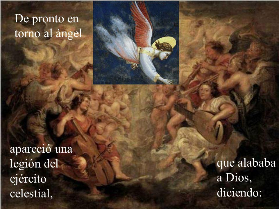 De pronto en torno al ángel