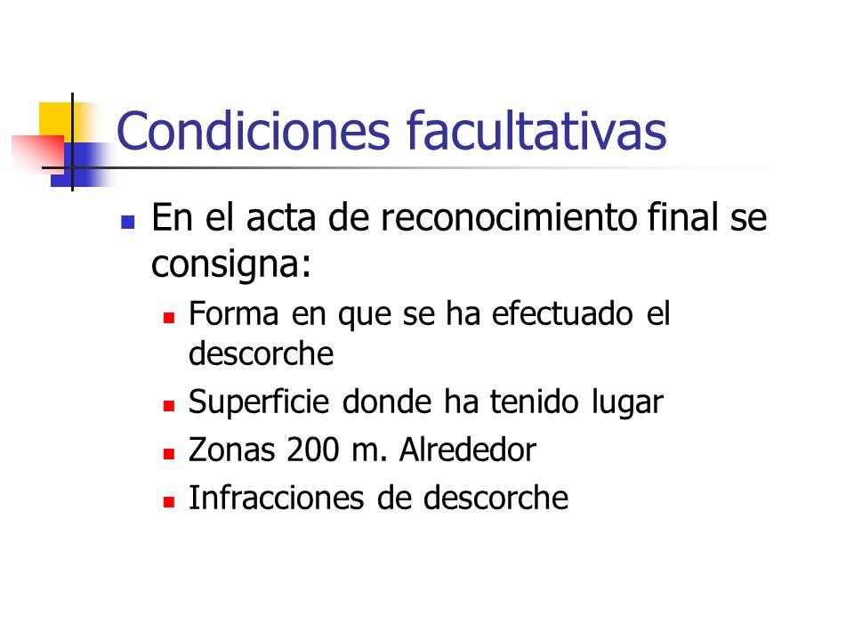 Condiciones facultativas