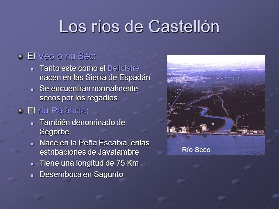 Los ríos de Castellón El Veo o riu Sec: El riu Palància: