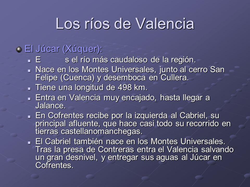 Los ríos de Valencia El Júcar (Xúquer):