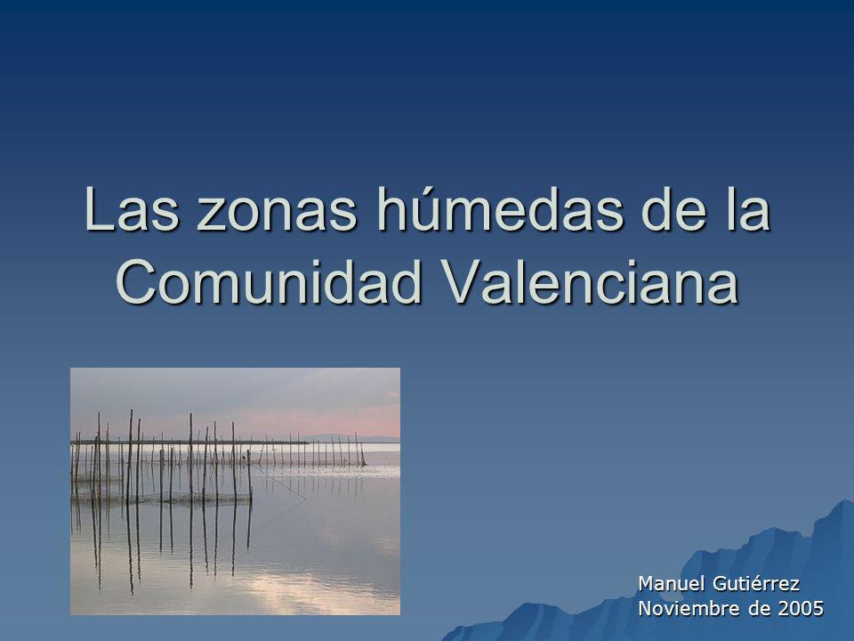 Las zonas húmedas de la Comunidad Valenciana