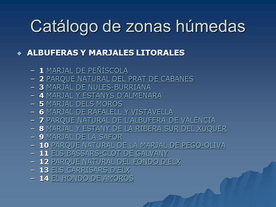 Catálogo de zonas húmedas