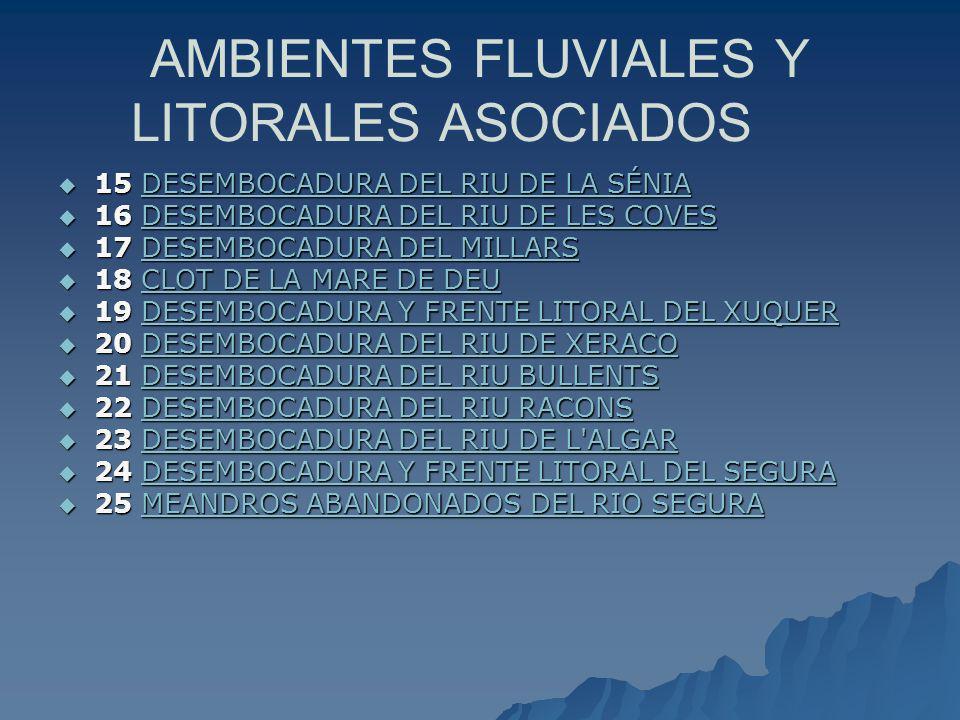 AMBIENTES FLUVIALES Y LITORALES ASOCIADOS