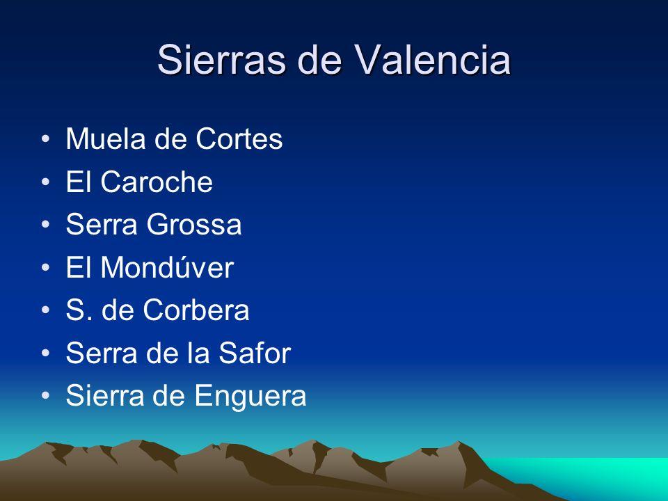 Sierras de Valencia Muela de Cortes El Caroche Serra Grossa