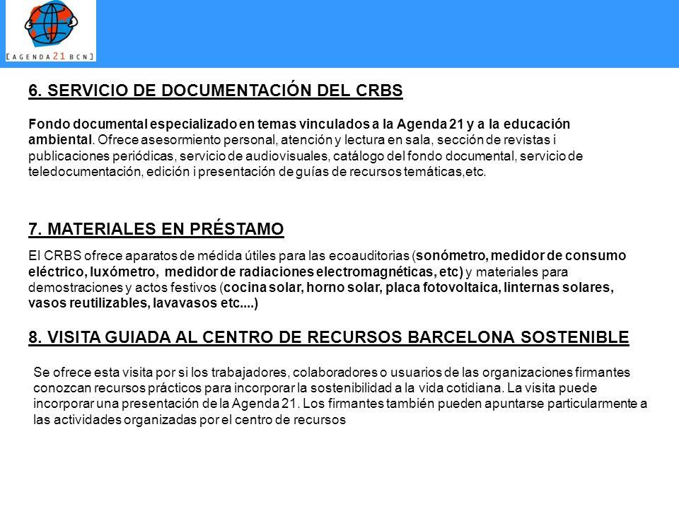 6. SERVICIO DE DOCUMENTACIÓN DEL CRBS