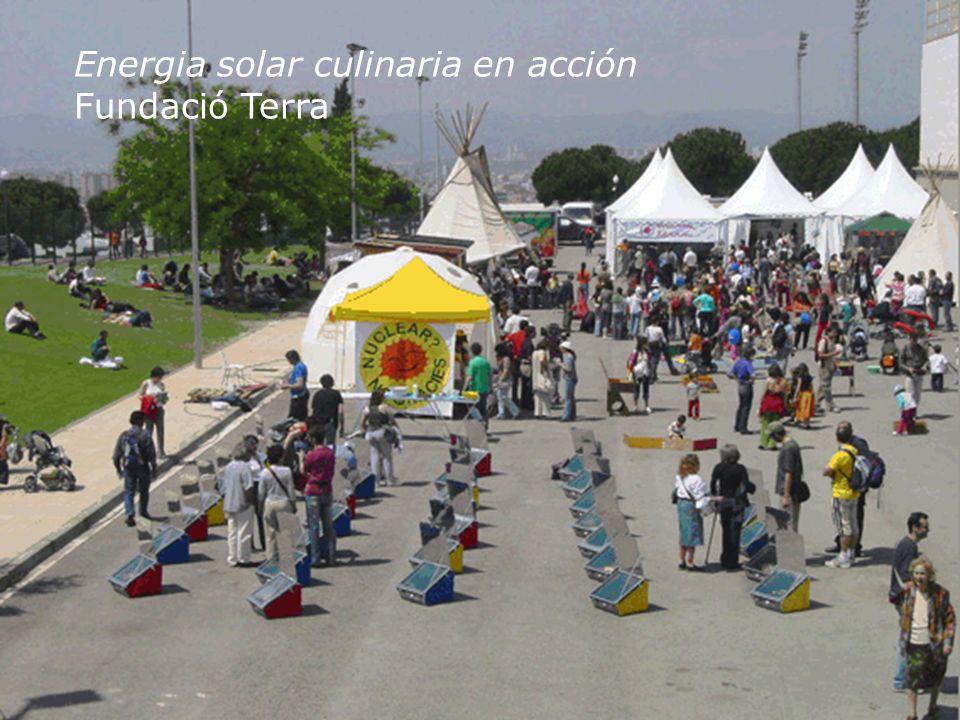 Energia solar culinaria en acción Fundació Terra