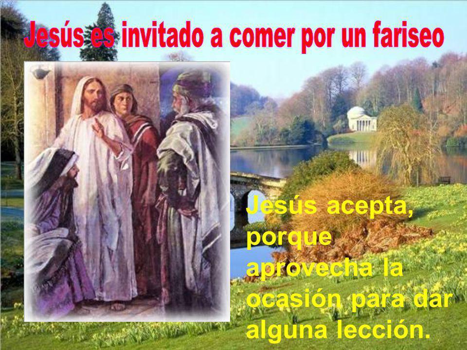 Jesús es invitado a comer por un fariseo