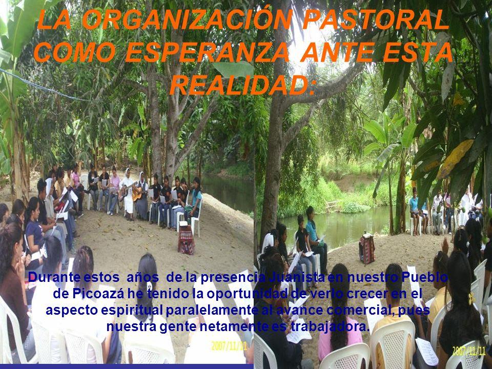 LA ORGANIZACIÓN PASTORAL COMO ESPERANZA ANTE ESTA REALIDAD: