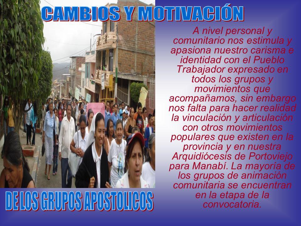 DE LOS GRUPOS APOSTOLICOS