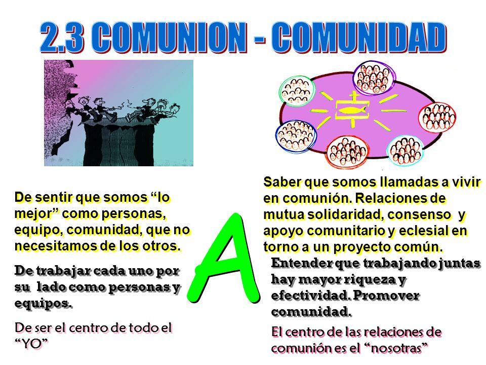 2.3 COMUNION - COMUNIDAD