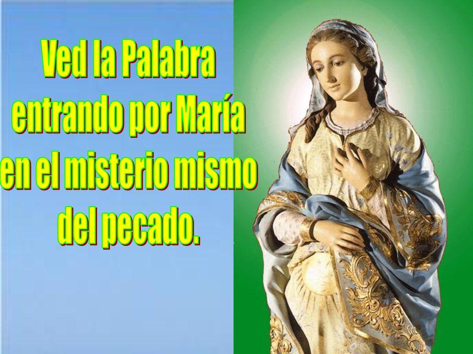 Ved la Palabra entrando por María en el misterio mismo del pecado.