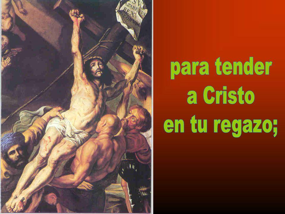 para tender a Cristo en tu regazo;