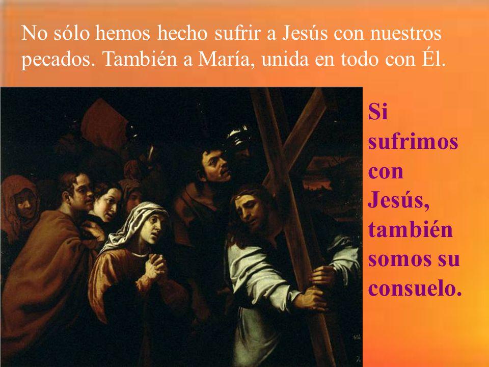 Si sufrimos con Jesús, también somos su consuelo.