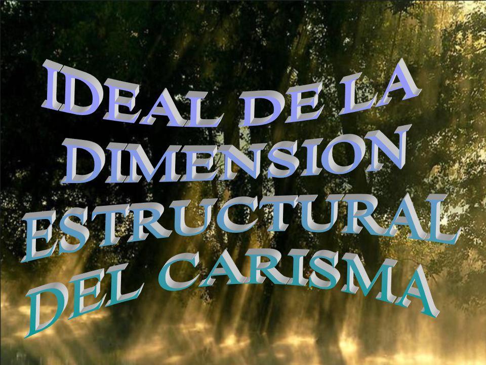 IDEAL DE LA DIMENSION ESTRUCTURAL DEL CARISMA