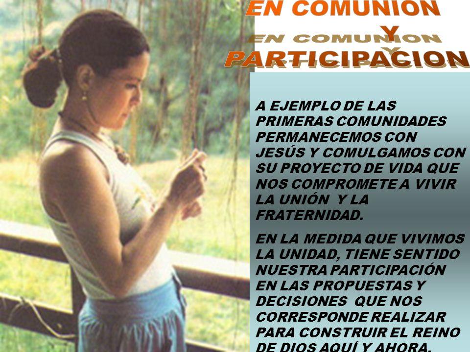 EN COMUNION Y PARTICIPACION