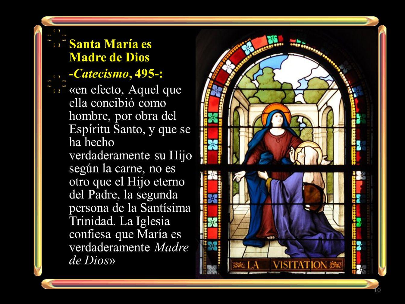 Santa María es Madre de Dios