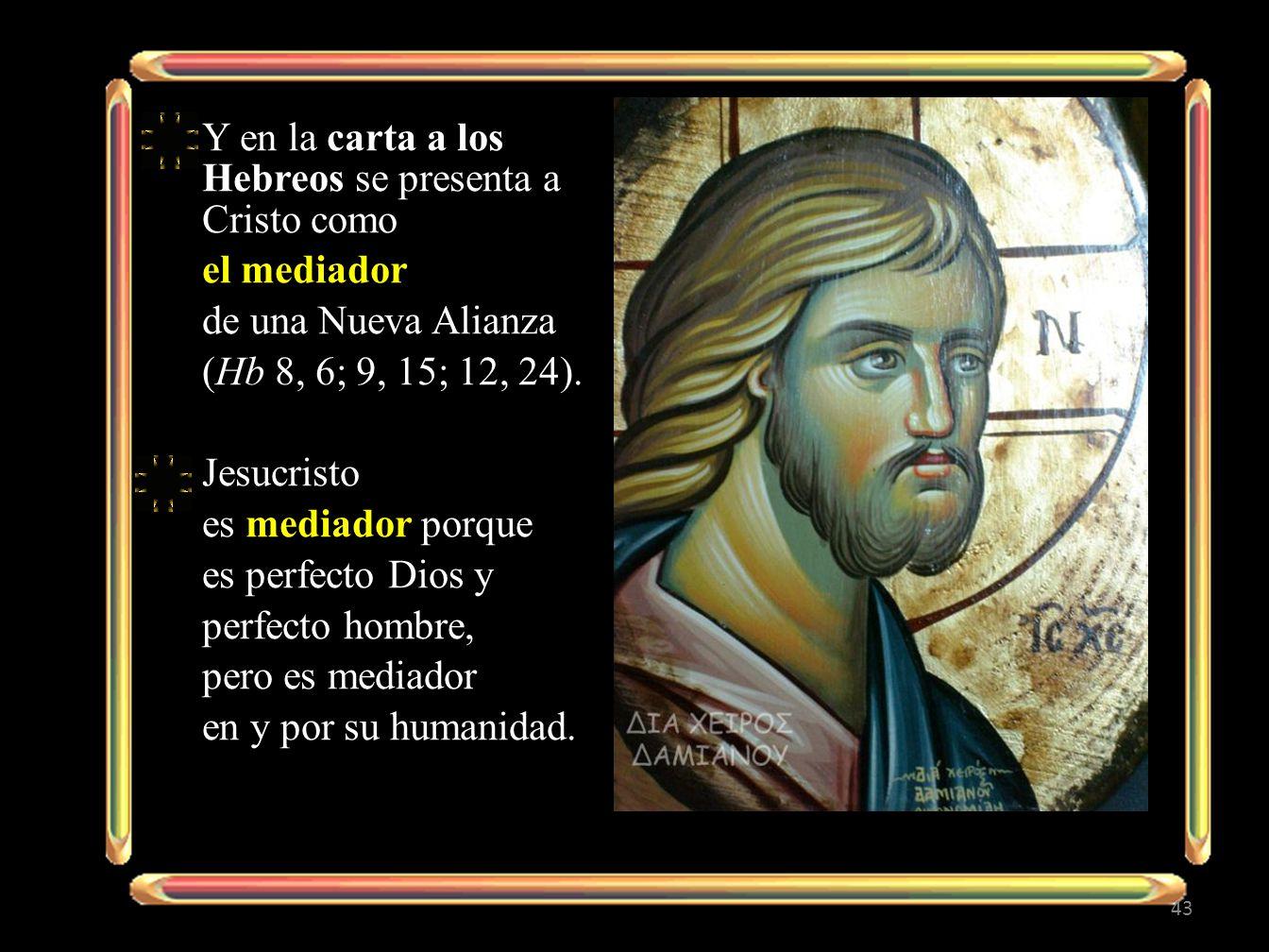 Y en la carta a los Hebreos se presenta a Cristo como