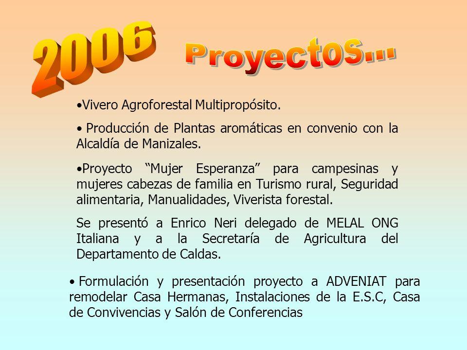 Proyectos... 2006 Vivero Agroforestal Multipropósito.