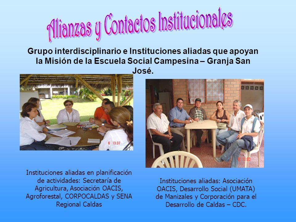 Alianzas y Contactos Institucionales