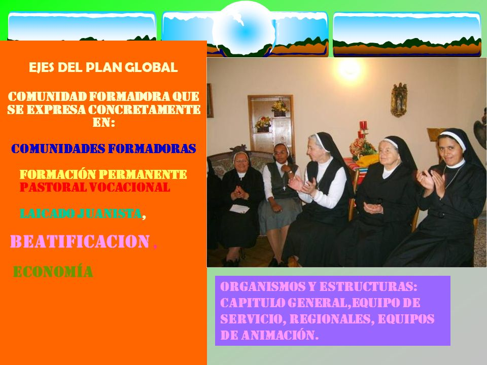 Beatificacion , EJES DEL PLAN GLOBAL
