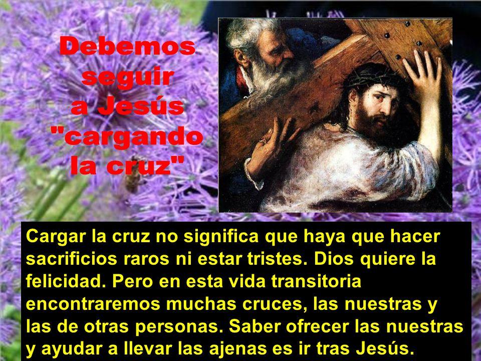 Debemos seguir a Jesús cargando la cruz