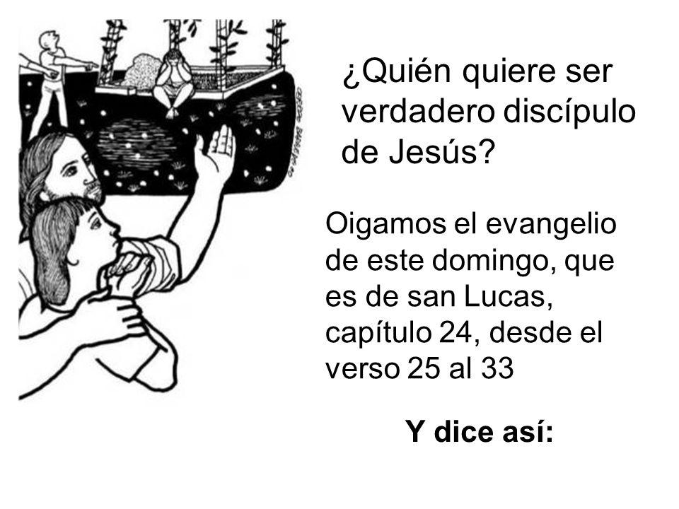 ¿Quién quiere ser verdadero discípulo de Jesús