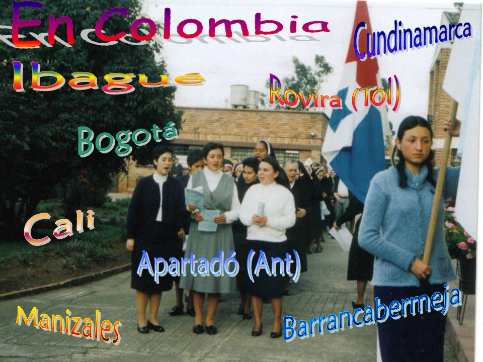 En Colombia Cundinamarca Ibagué Rovira (Tol) Bogotá Cali Apartadó (Ant) Barrancabermeja Manizales