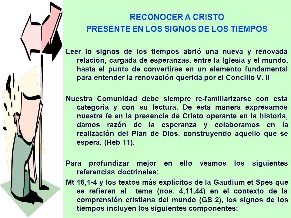 PRESENTE EN LOS SIGNOS DE LOS TIEMPOS