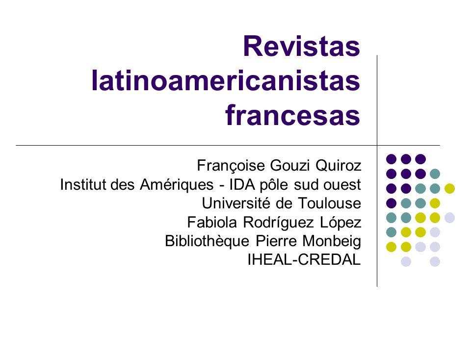Revistas latinoamericanistas francesas